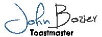 John Bozier Toastmaster